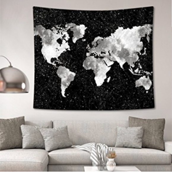Other starry world map tapestry poshmark starry world map tapestry gumiabroncs
